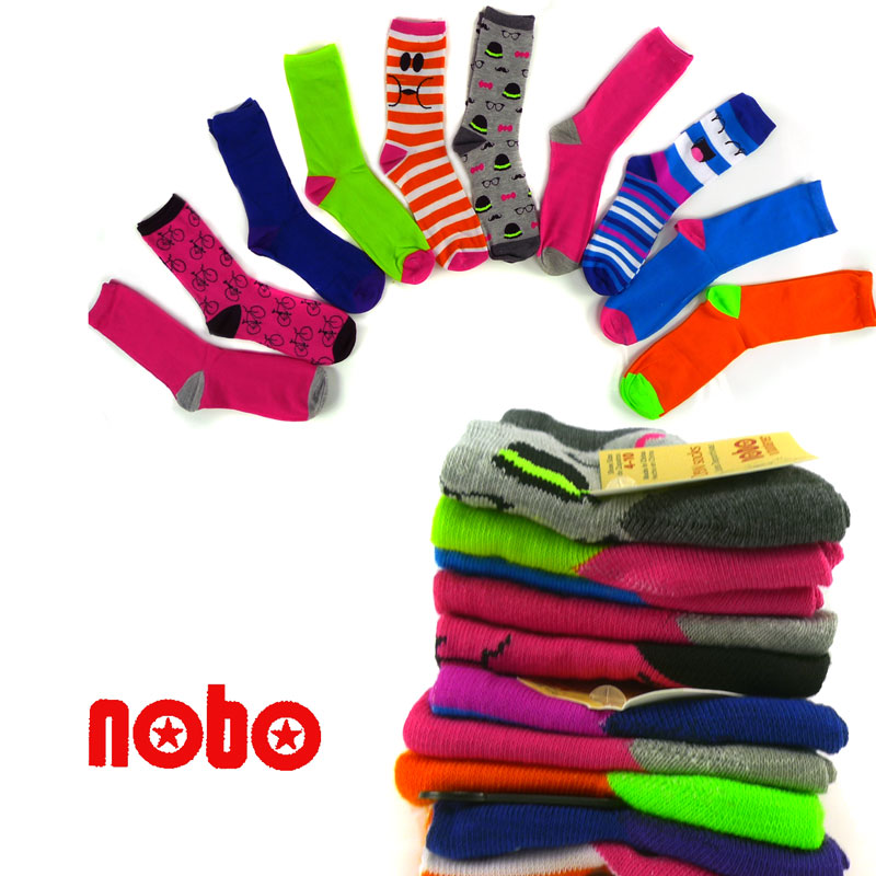 10 pairs of Assorted Fun and Funky Fashion Socks from No Boundaries  - Great For Mix and Match! SHIPS FREE!