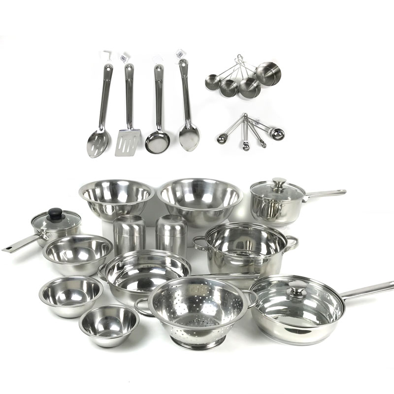 29-Pc. Stainless Steel Cookware & Prep Set