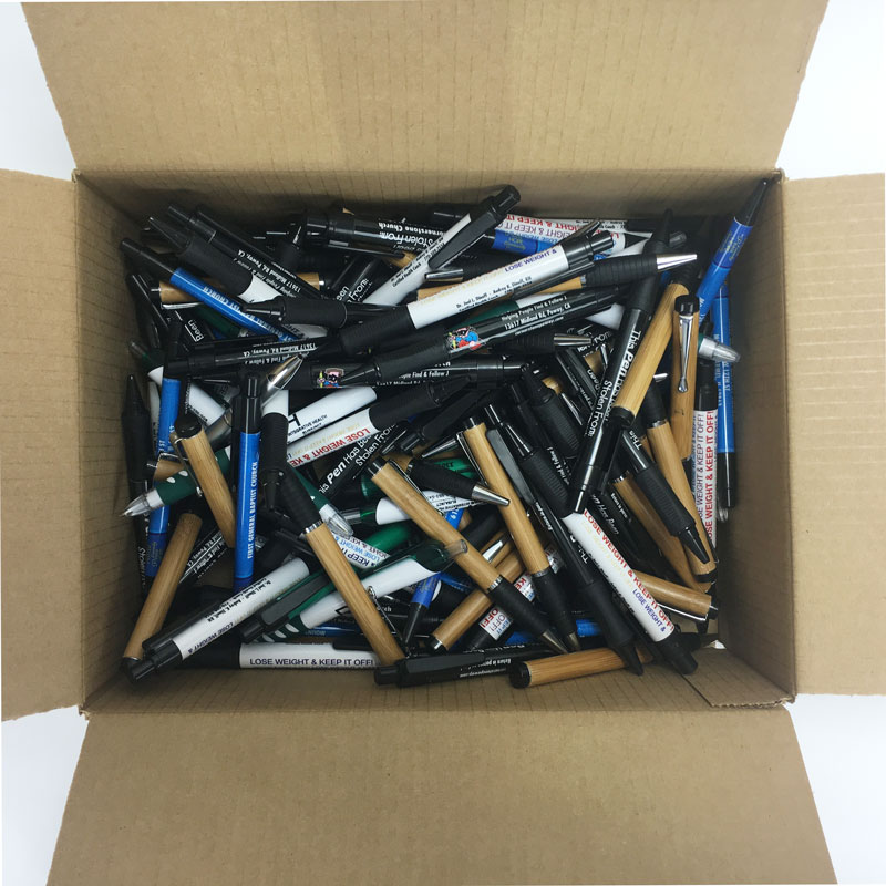 3-lb. Box of Misprint Plastic Retractable Pens