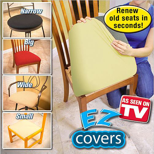 As Seen On TV - EZ Covers 4pc. Beige - Renew Old Seat Cushions In Seconds - SHIPS FREE!
