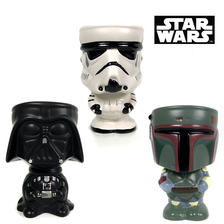 Set of 4 Star Wars Ceramic Goblets