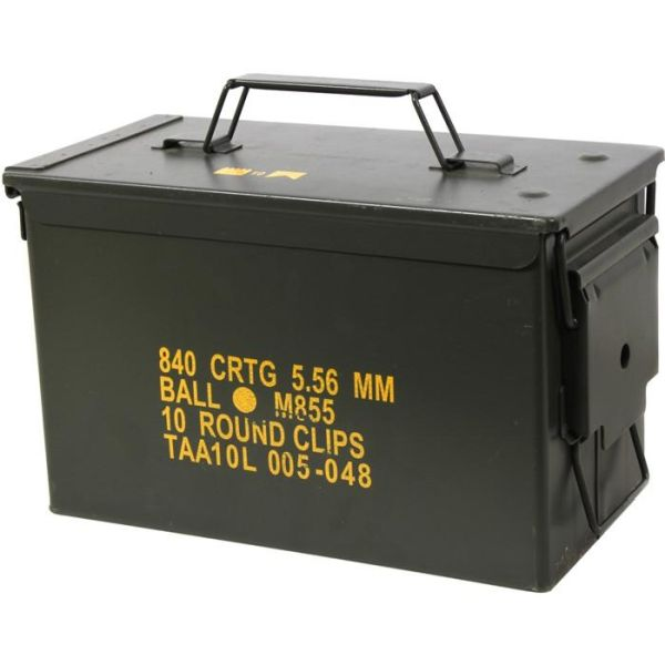 US Military Surplus 50 Caliber Ammo Case