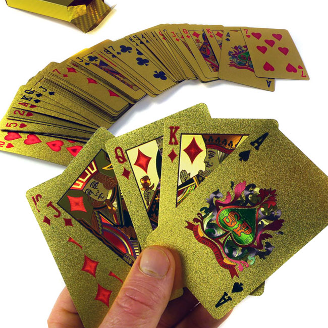 24Kt Gold-Plated Playing Cards – $7.99 ships free with code by Jammin Butter