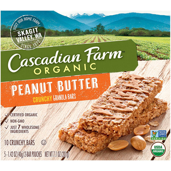 6- Boxes of Cascadian Farm Organic Crunchy Peanut Butter Bars