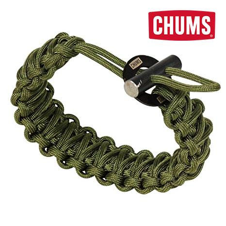 Chums 16 Feet 550lb Paracord Bracelet with Fire Starte