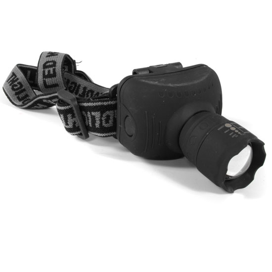 3 Watt 120 Lumen Zoom Cree Bulb 3 Mode Pivoting Headlamp - One for $6 or Two for $9.49! SHIPS FREE!