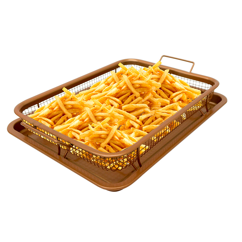 Copper Non-Stick Crisper Tray.