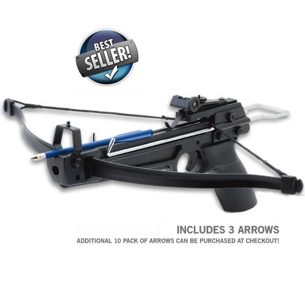 50lb Draw Pistol Grip Crossbow With Arrows – $9.99 ships free by Jammin Butter