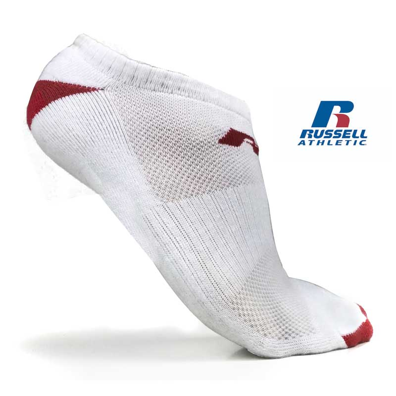 12 Pairs of Russell Athletic No-Show Socks