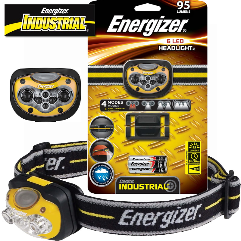 Energizer Industrial 6-LED Headlamp, HDL33AINE