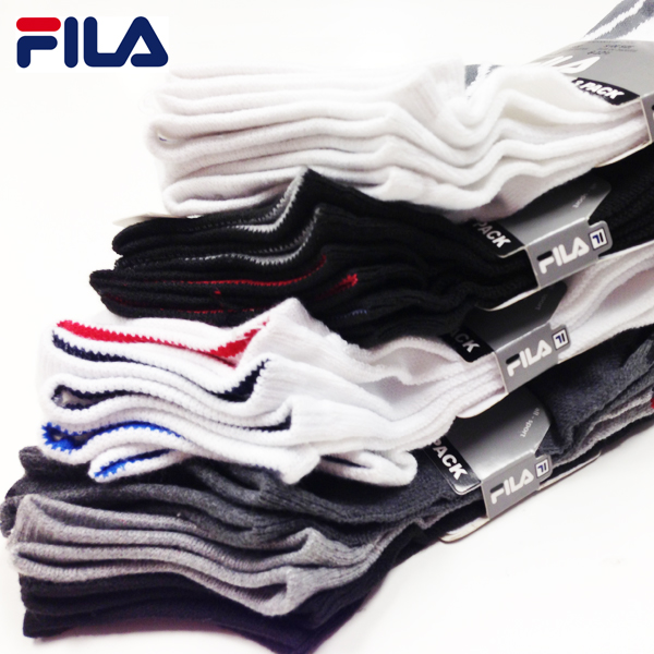 Fila Mens or Womens Performance No-Show Socks 12-Pack