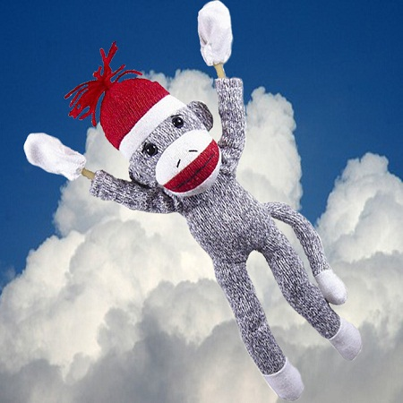 Screaming Flying Sock Monkey -...