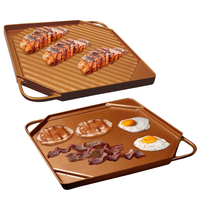 Double Sided Copper Griddle -.