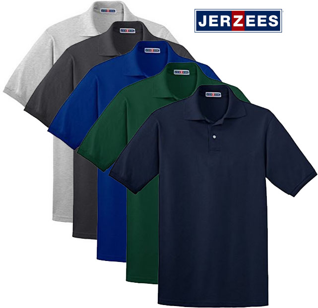 5 Pk Jerzees Mens Polo Shirt
