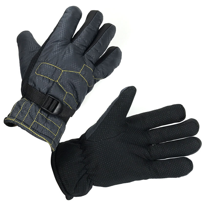 Mens Water-Resistant Winter Gloves With Lining, One Pair