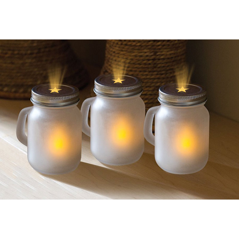 3 Piece Mason Jar Unscented Fl...