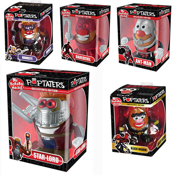 Marvel Mr. / Mrs. Potato Heads - Collectors Edition - order 3 or more for $9.99 each! SHIPS FREE!