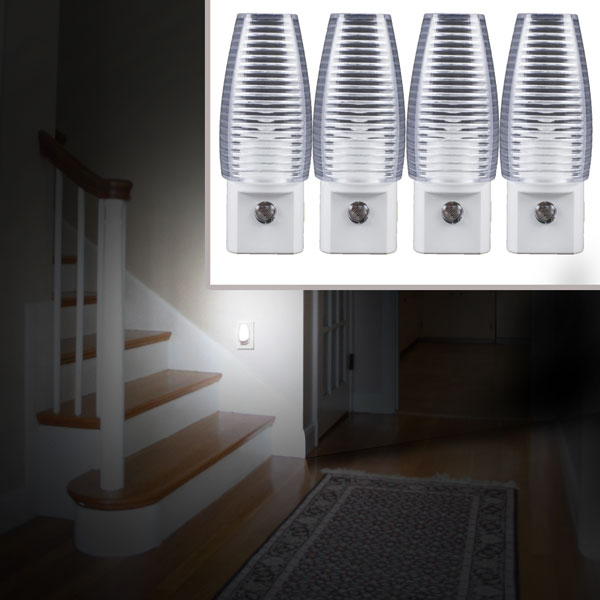 4 Pack of Automatic LED Night Lights - Ships Free!