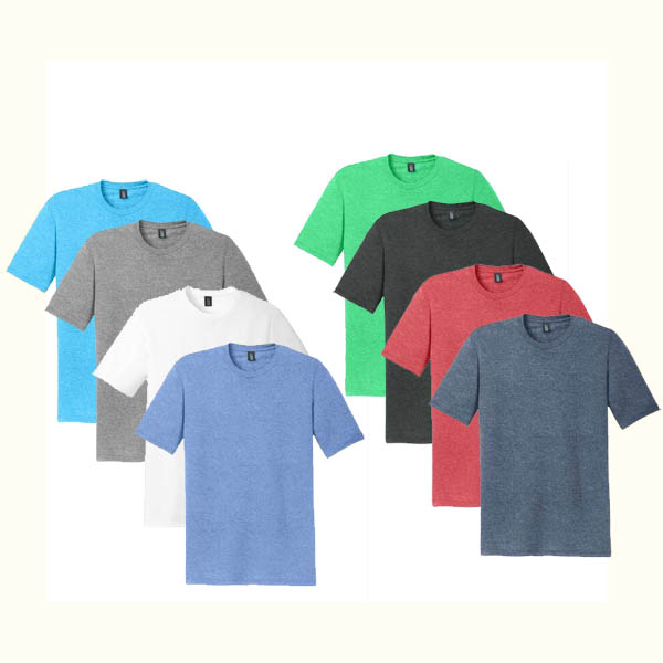 6 Mens Ultra-Soft Ring Spun Cotton T-Shirts (Multi Colors)