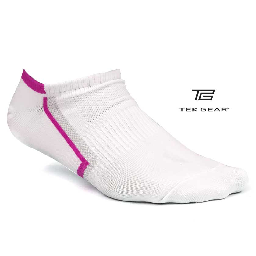 12-Pk Tek Gear Performance Womens No-Show Socks
