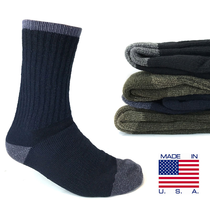 3-Pairs of Fruit of The Loom Men's or Womens Thermal Boot Socks