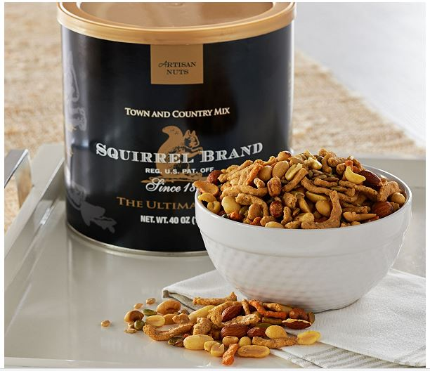 two 3-lb. Squirrel Nut Brand Town and Country Mix Cans