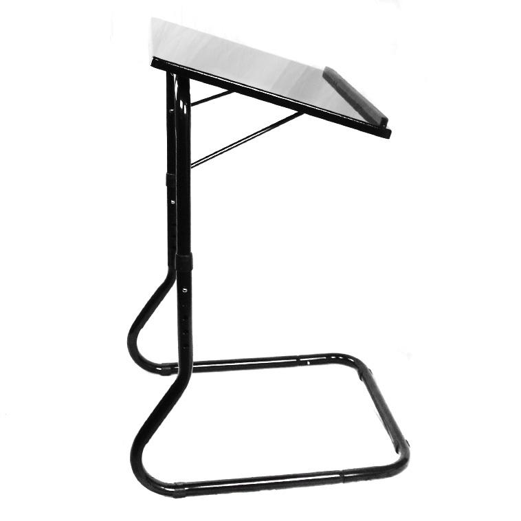 Deluxe Adjustable Height U0026 Tilt Slide Under Table Top TV Tray   SHIPS FREE!