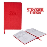 Deals on Stranger Things Stuck in the Upside Down Leather Notebook