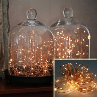 Wireless 9-Foot Waterproof Micro LED String Lights (Copper / Silver)