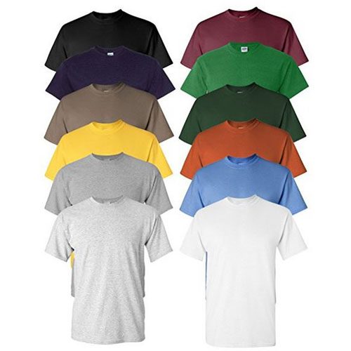 6 Pack of Ultra Soft Moisture Wicking Performance Short Sleeve T-Shirts