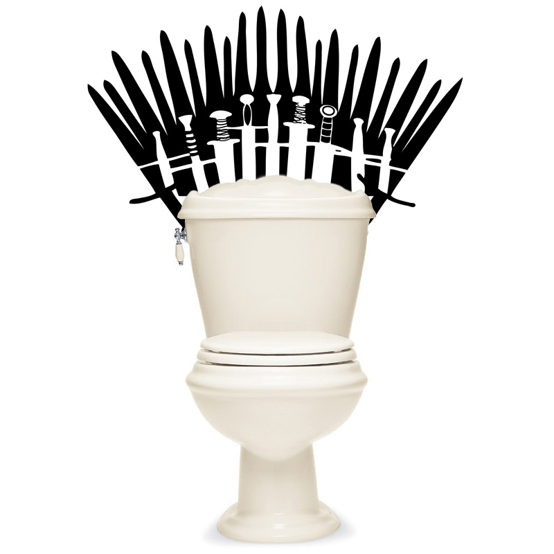 Game of Thrones Inspired Re-Positionable Toilet Decal - SHIPS FREE!