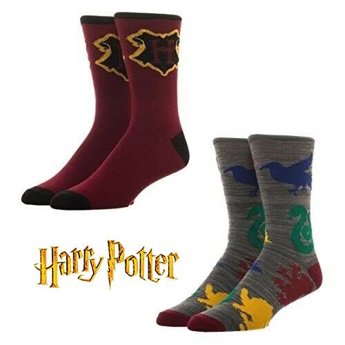 2 Pairs Officially Licensed Harry Potter Crew Socks