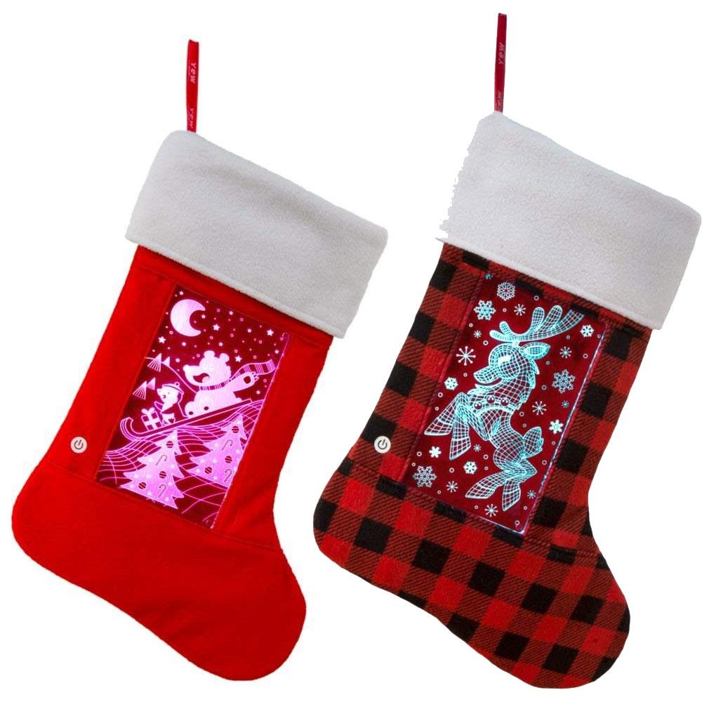 LED Light Up Christmas Stockings