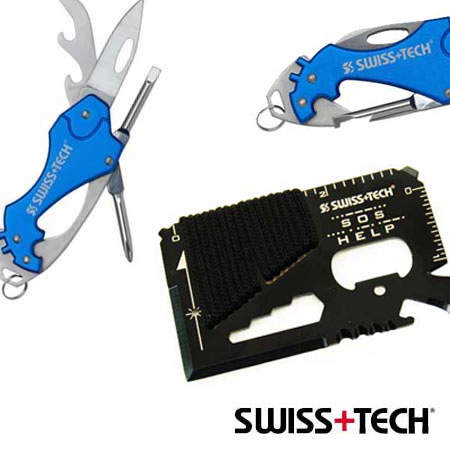 Swiss+Tech 6-in-1 Key Ring Multi-Tool or Credit Card Survival Tool With 36
