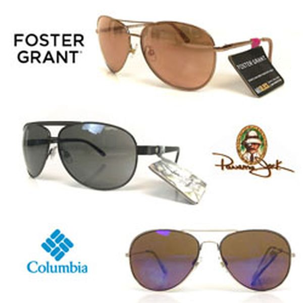 two pairs of Name-Brand Men's or Women's Aviator Sunglasses