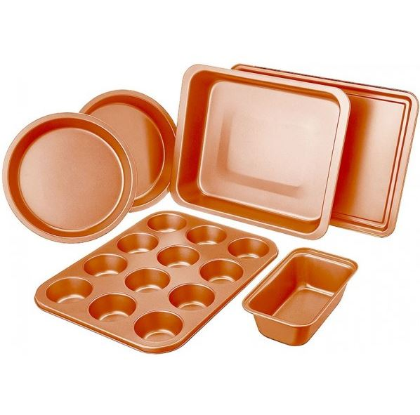 6-Piece Non-Stick Copper Bakeware Set