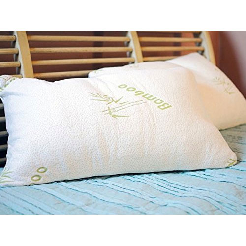 INSANE DEAL - Aloe & Bamboo Memory Foam Hypoallergenic Pillow - Available In King and Queen - Limit 6 Per Household