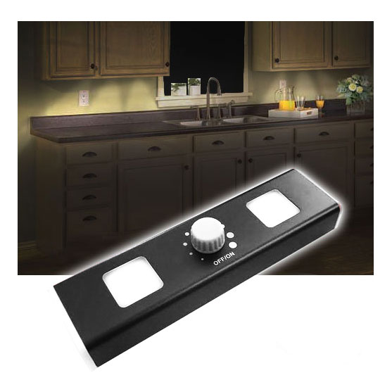 INSANE DEAL - Wireless LED Under Cabinet Light With Dimmer Dial - Set it to JUST the right amount of light! Order 3 or more for $3.33 each! SEE THE VIDEO! SHIPS FREE!