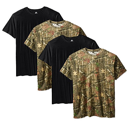 4 Pack Mossy Oak Mens Moisture Wicking Shirts
