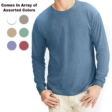 5Pk. of Ultra Comfortable Colors Cotton Long Sleeve Shirts