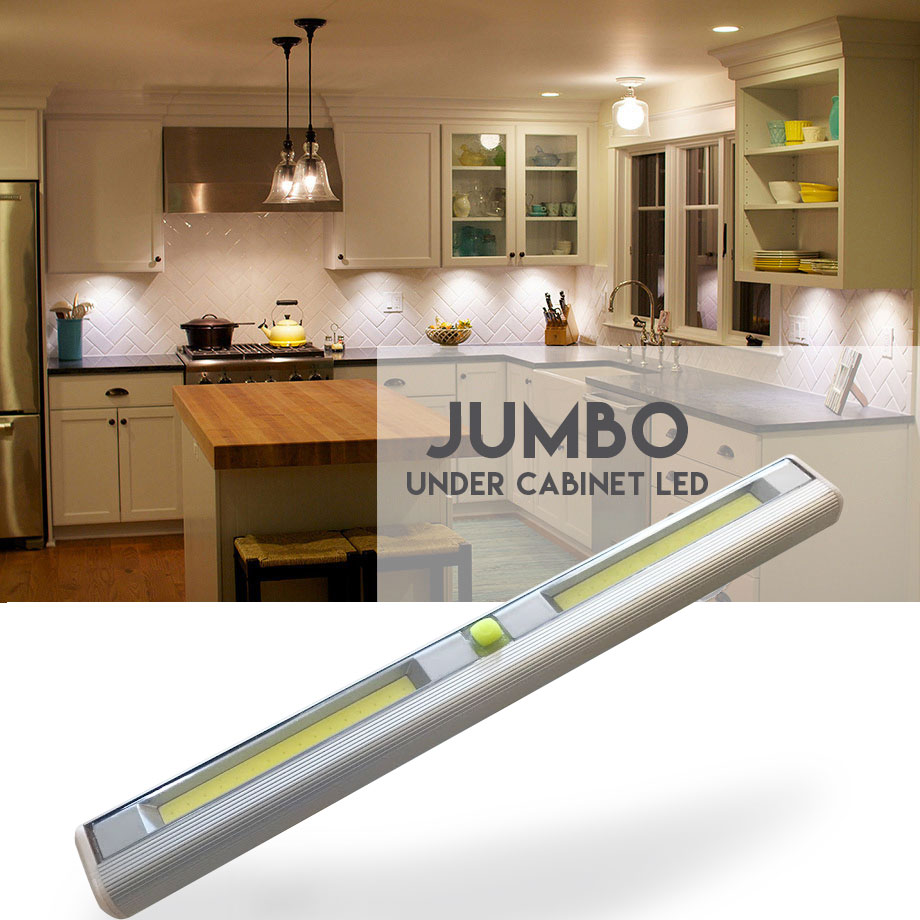 Jumbo Size Wireless Under Cabinet LED Light - See the video! Order 6+ for only $5.99 each! SHIPS FREE! BONUS: Grab your phone & Txt SECRET to 88108 for access to secret deals!