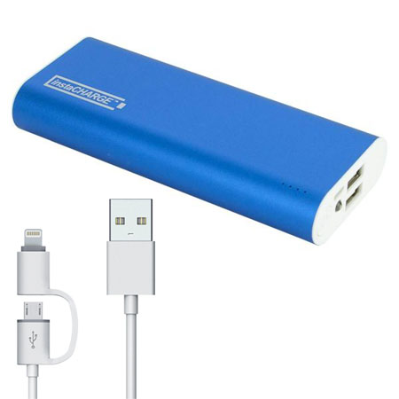 InstaCharge 12,000mAh Dual USB Portable Battery Pack