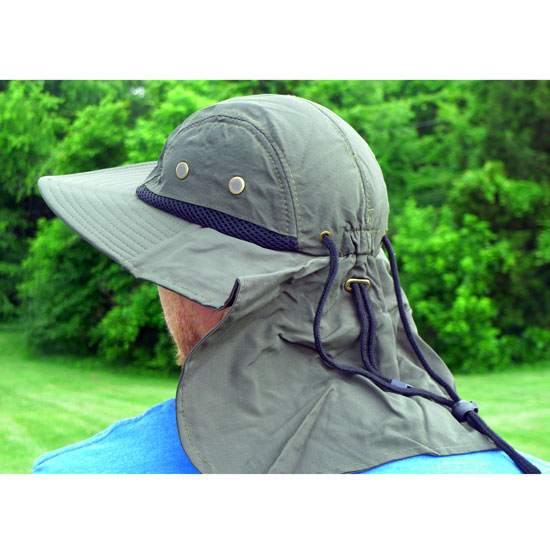100% Cotton Boonie Hat with Rear Sun Flap