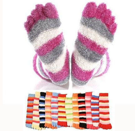 3 Pack of Super Comfy Fuzzy Toe Socks - 3 Pairs for $5.99 or SIX Pairs for $9.98! SHIPS FREE