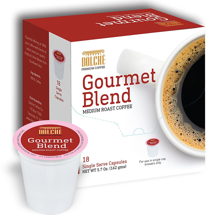 Dolche Gourmet Blend Premium Coffee K Cups - 72 Count - Just $0.20 cents per cup!  Unlimited $1.99 Shipping, So Stock Up For Fall and Winter!!