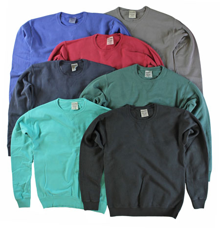4 Pack of Hanes ComfortWash Garment Dyed Fleece Sweatshirts