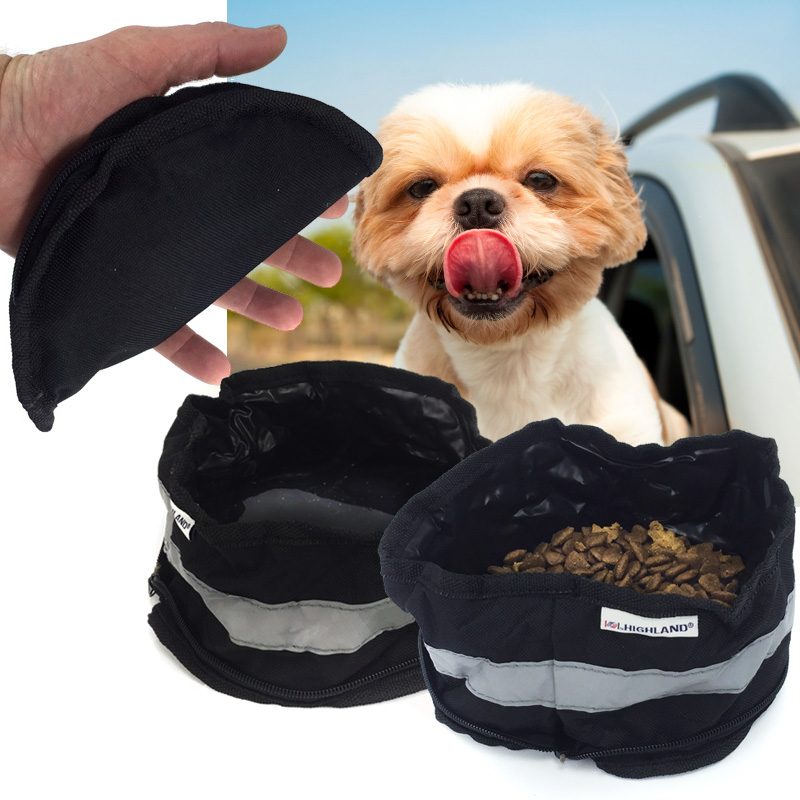 Highland On-The-Go Zip Up Pet Bowl! 1 For $4 Or 2 For $7! SHIPS FREE!