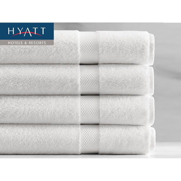 "4 Pack of Hyatt Resort White Extra Large (27"" x 60"") Bath Towels"