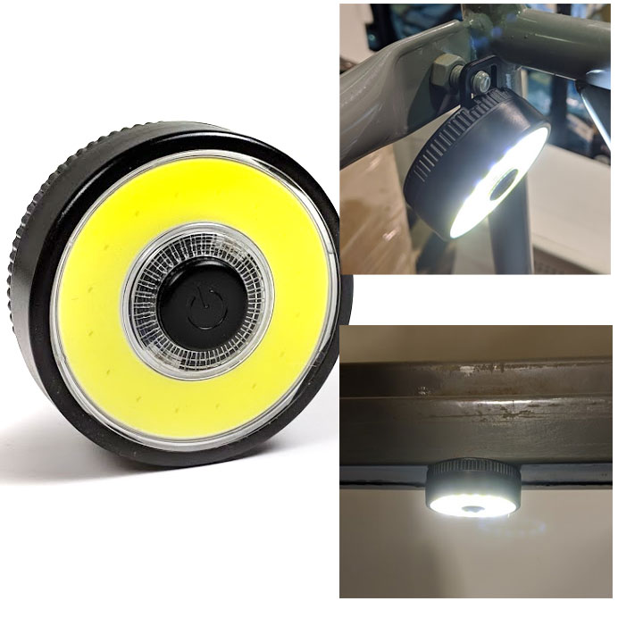 2 Pack of Round Magnetic COB LED Work Lights