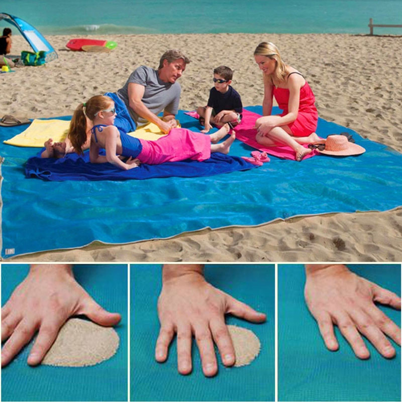 CLEARANCE - SEE THE VIDEO - Magic Sandless Mat - No Sand Beach Mat! Also Great For The Lake, Picnics, Ect! large 6.5' x 5' size! Order 3+ for just $9.49 each! Grab one now and use it year after year!  SHIPS FREE! - BONUS: Grab your phone & TXT the word SECRET to 88108 for access to secret deals!